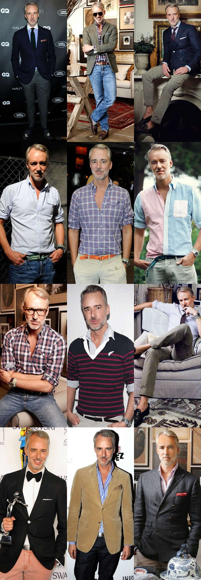 Male fashion designer Michael Bastian, leading by example.