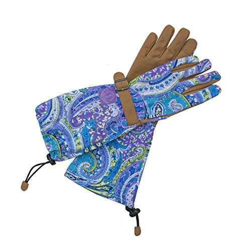Womanswork 712l garden gloves with arm saver large for Gardening gloves amazon