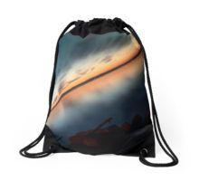 Sunset Over Balaton Drawstring Bag