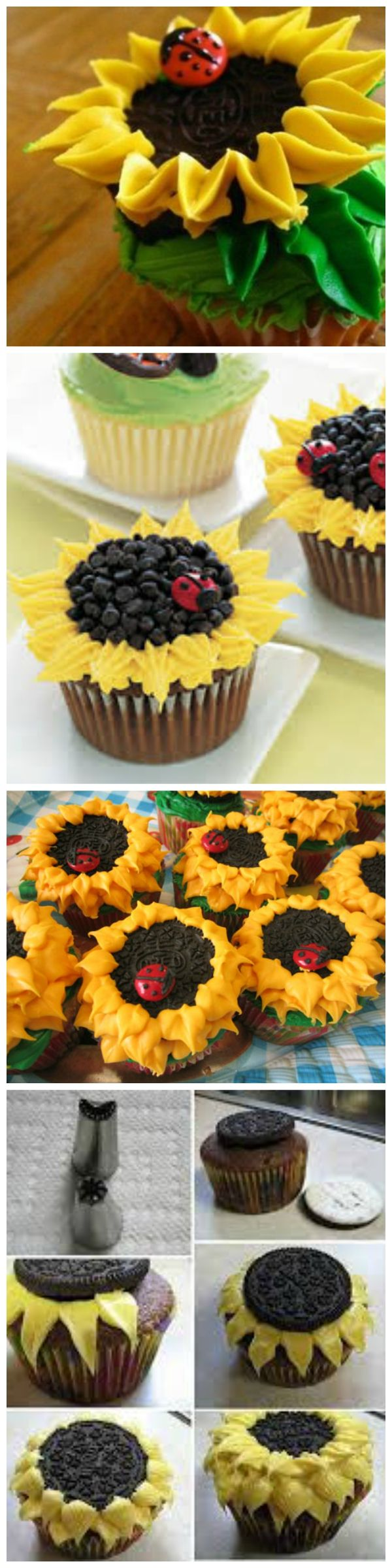 Oreo Sunflower Cupcakes