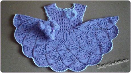 Платье крючком для малышки | Уроки вязания для начинающих бесплатно. Вязание спицами, крючком.