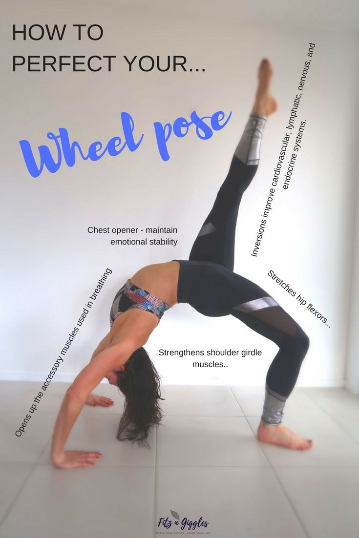How to perfect your yoga wheel pose. Step by step guide to doing wheel pose.  Beginners preparation poses for yoga wheel pose