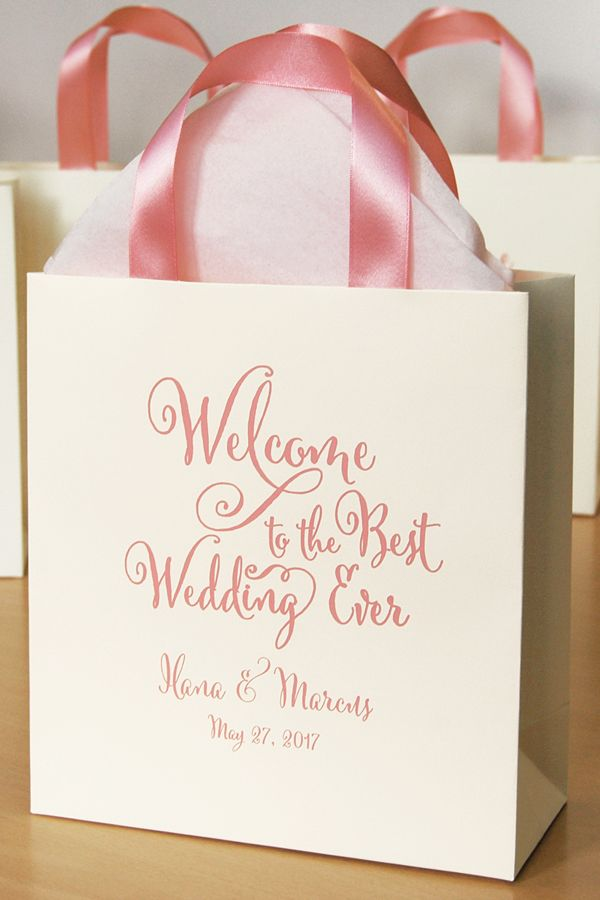 30 Gift Paper Bags Welcome To The Best Wedding Ever