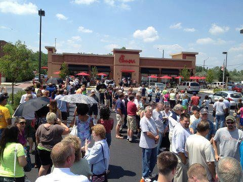From CHICAGO, IL...Chick-fil-A...               PATRIOTS                                                                     STANDING for FREEDOM of SPEECH.          STANDING for FREEDOM of RELIGION.               THE GIANT HAS AWAKENED.                         THE EAGLE HAS FLOWN.