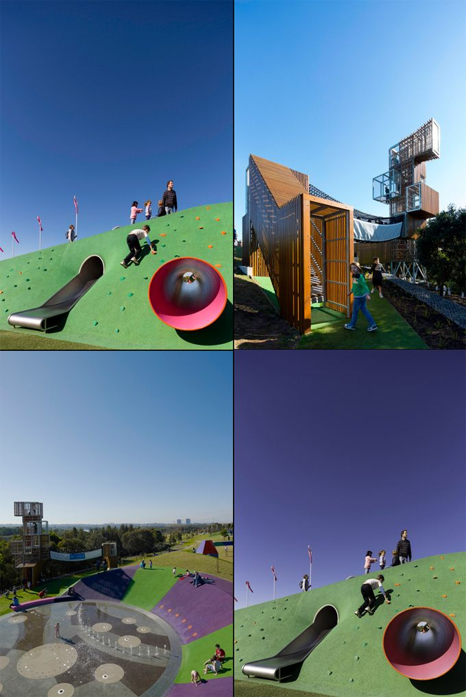 The Cool Hunter - Kids. Outdoor playground by JMD Design, Sydney. I wish I had access to this for my son!