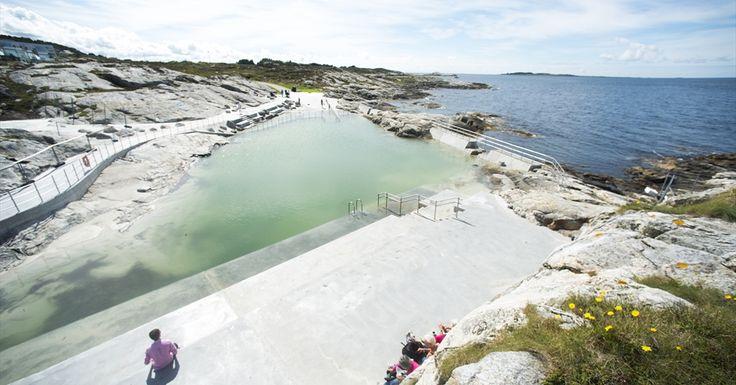 Sjøbadet Myklebust (public sea pool) - Bathing in Tananger, Sola