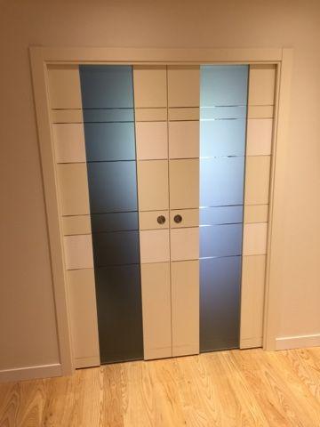 Karpinteria puertas armarios y tarimas puertas de interior con cristal templado - Armario con puertas de cristal ...
