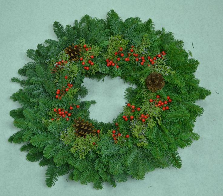 "Mixed Berry Wreath 24"":"