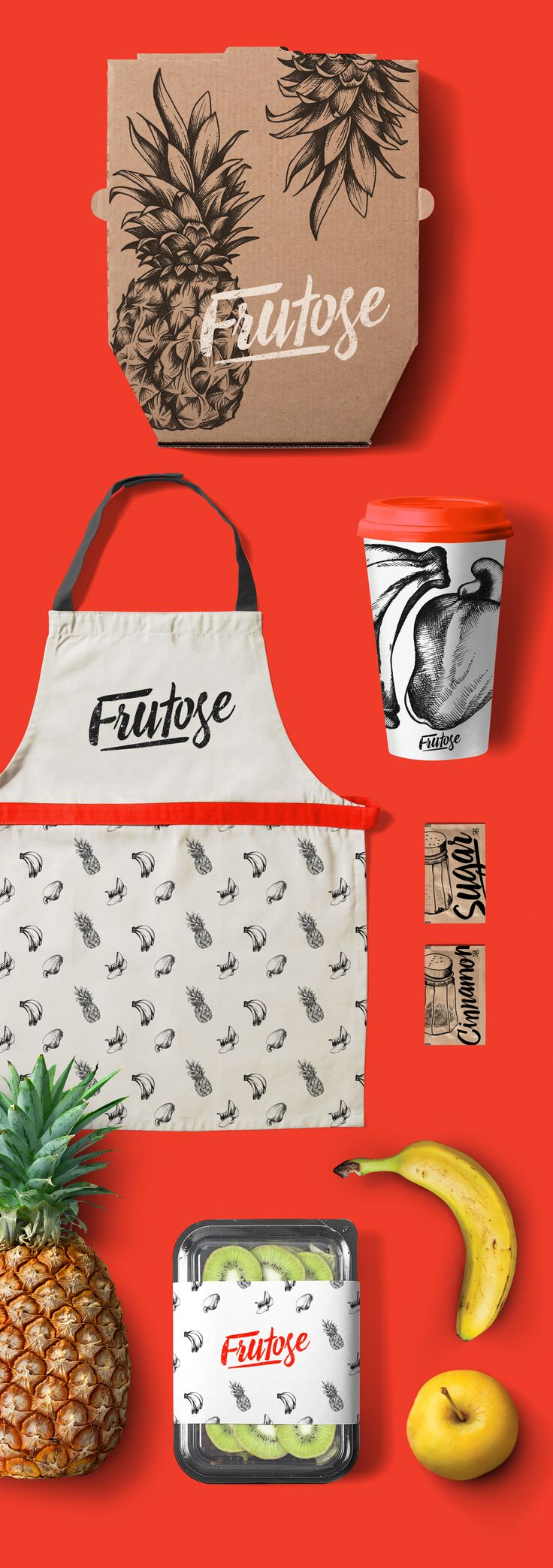 Branding design for Frutose. More