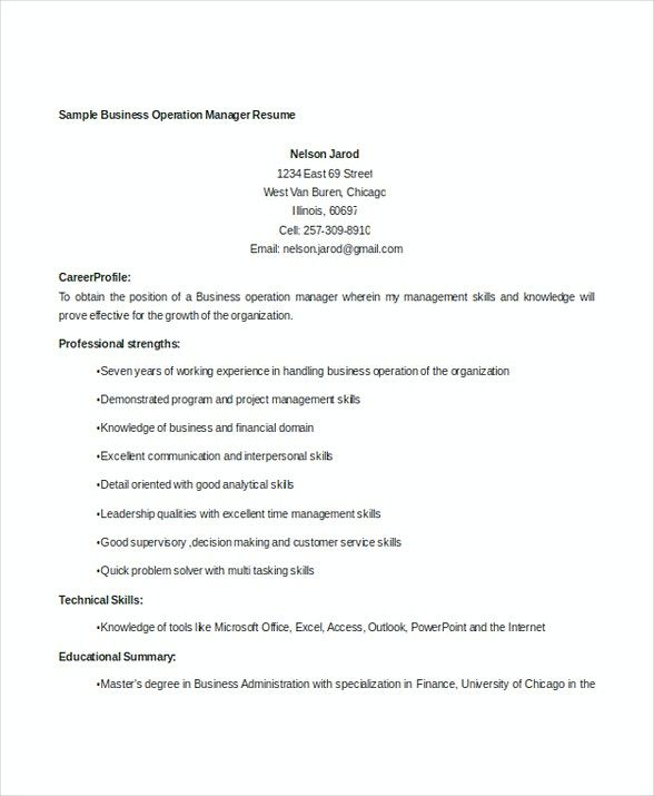Business Operations Manager Resume , Bank Branch Manager Resume ,  This Bank Branch Manager resume is beneficial for those who want to apply for the position. Check this article to get the information about the job resume.