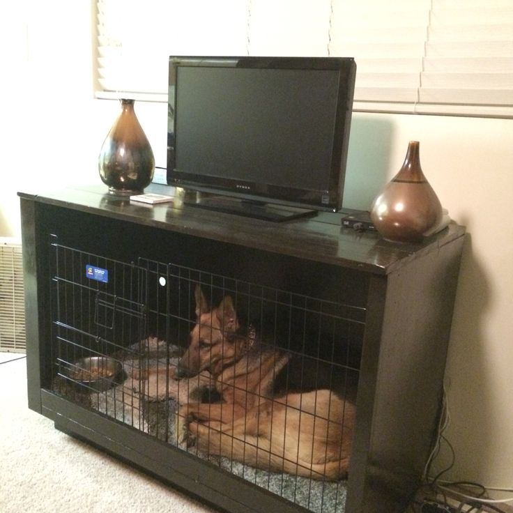 Crate Tv Stand Dog Crates And Diy Furniture On Pinterest