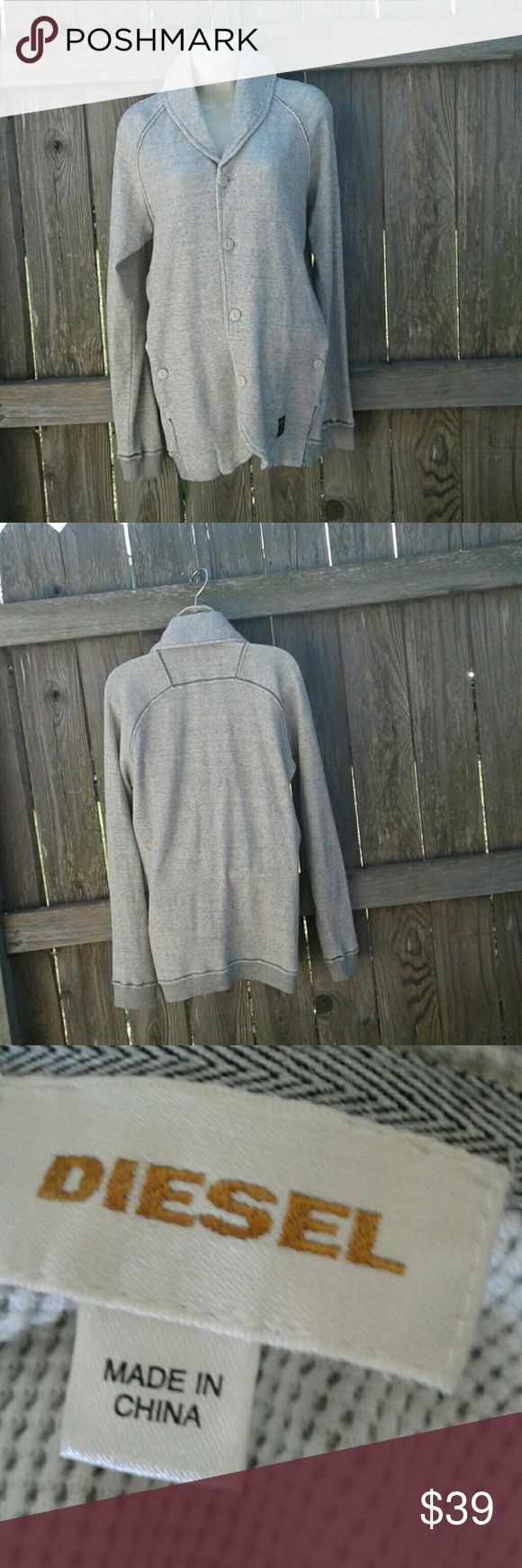 """♡♡♡DIESEL SHAW COLLAR CARDIGAN♡♡♡ Front button, closures, two front button pockets, 100% cotton, ribbed cuffs, 31"""" long, 26"""" arm pit to arm pit, 27"""" sleeves, GREAT PRE-LOVED CONDITION DIESEL Sweaters Cardigans"""