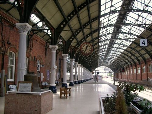 Darlington Train Station - it's not like that now!
