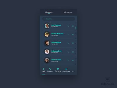 Contacts Ui Design
