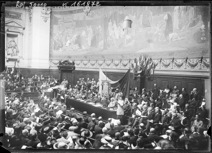 Feast of the flag of Stephen the Great (Stefan cel Mare) at the Sorbonne University - July 28, 1917