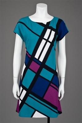 St John Knits Santana Color Block Dress