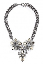Floral Crystal Embellished Necklace by Anton Heunis