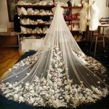 """Brand new cathedral veil, in ivory only. 108""""x108"""""""