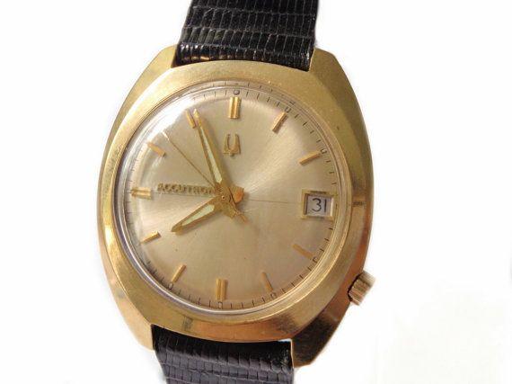 1973 Bulova Accutron 14k Solid Gold Watch Men's by ArtDecoAntiques