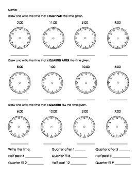 Time Worksheets : telling time worksheets quarter to half past ...