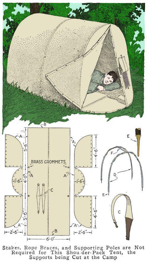 Homemade Shoulder-Pack Tent