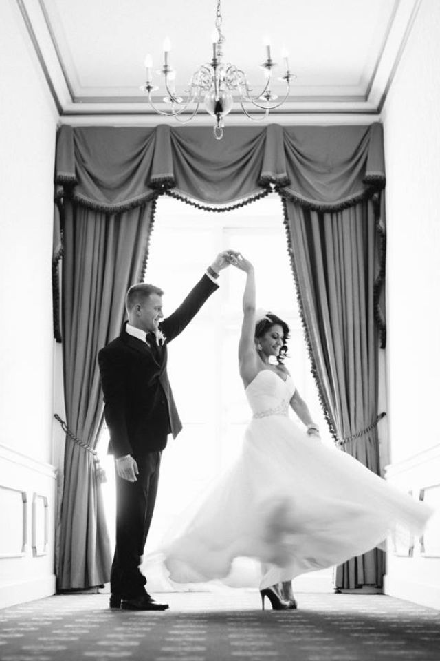 I love this. You could have one like this with the wedding party, us girls twirling?