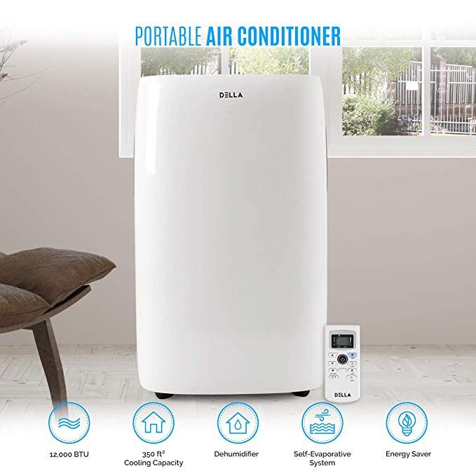 Della 12 000 Btu Portable Air Conditioner Unit Quiet Ac Unit Dehumidifier Freestanding R Portable Air Conditioner Air Conditioner Units Compact Air Conditioner