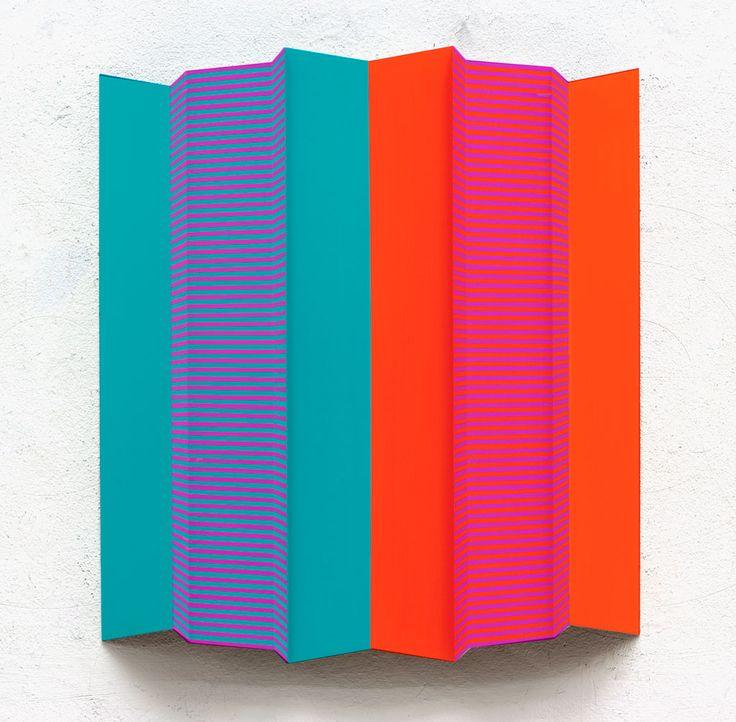 MSE4, 2011, 74x70x5cm, Acryl auf Alublech, Edgar Diehl