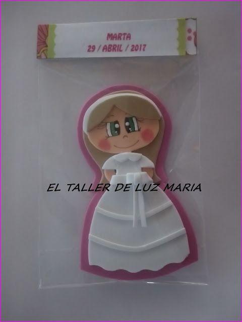EL TALLER DE LUZ MARIA: IMANES DE COMUNION DE GOMA EVA
