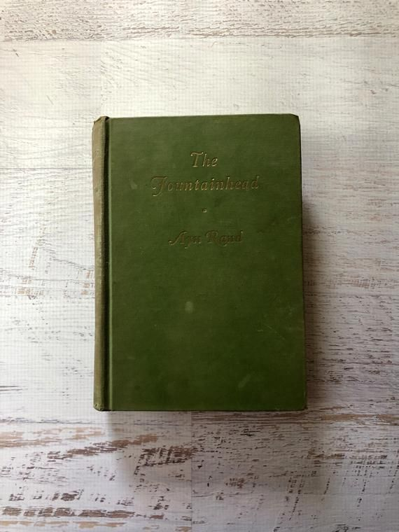 1943 Fountainhead. By Ayn Rand. First Edition- Early Printing. Howard Roark. Literary Classic. Vintage Book