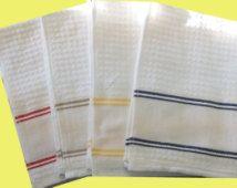 Stitchable Nancy Kitchen 3 Towel Set for Cross Stitch or Swedish Weave