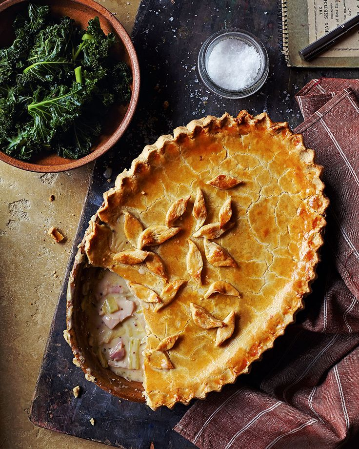 You can't get any more British than a pie, especially one that is packed with leeks, chicken and bacon. This hearty recipe celebrates everything good about autumn.