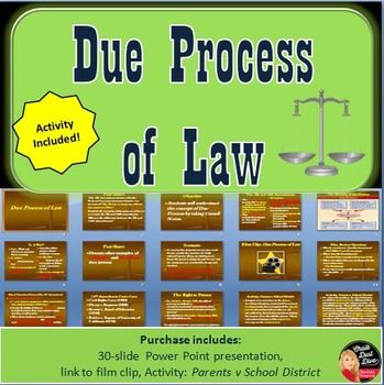 due process of the law Due process is best defined in one word--fairness throughout us history, its  constitution, statutes and case law have provided standards for fair treatment of.