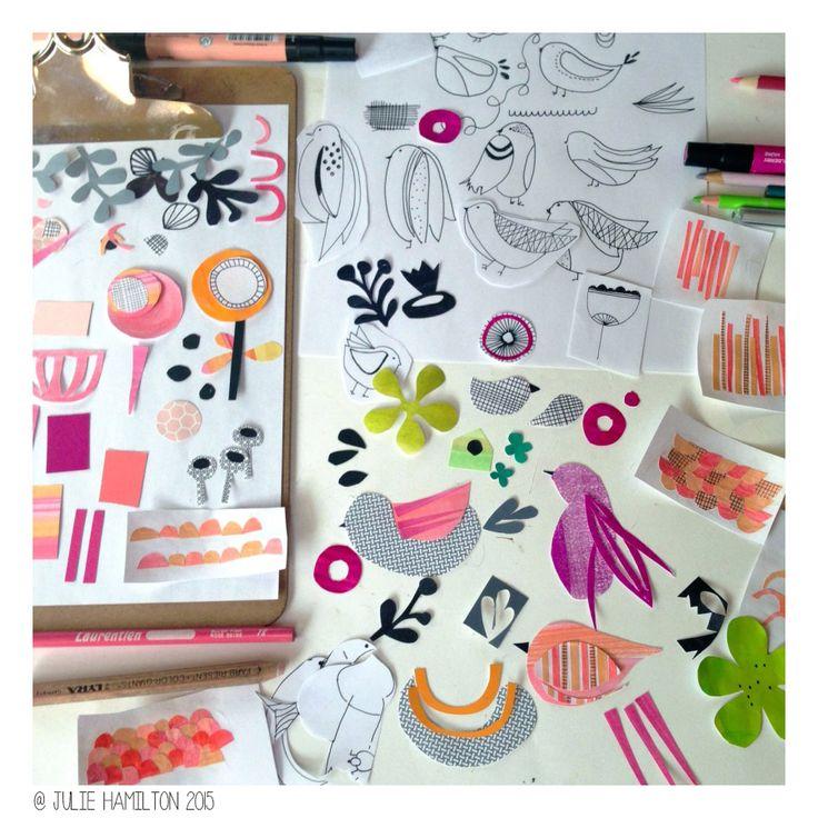 Creative Process - Julie Hamilton Creative #sketchbook #artjournal #penpaperpaintpattern