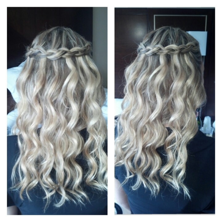 Waterfall Braid With Mermaid Waves Hair By Ashley Stone