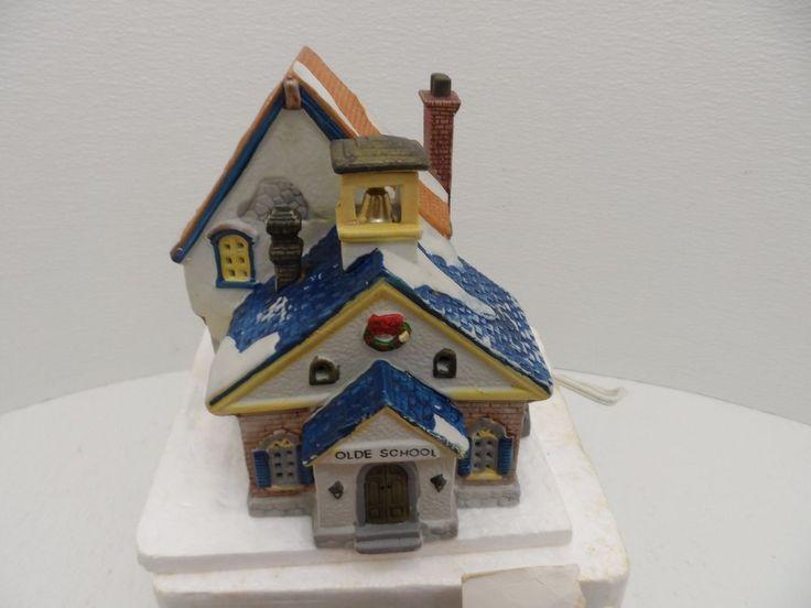 Lemax 1993 Dickensvale Olde School Village Porcelain Lighted House 35091 #Lemax