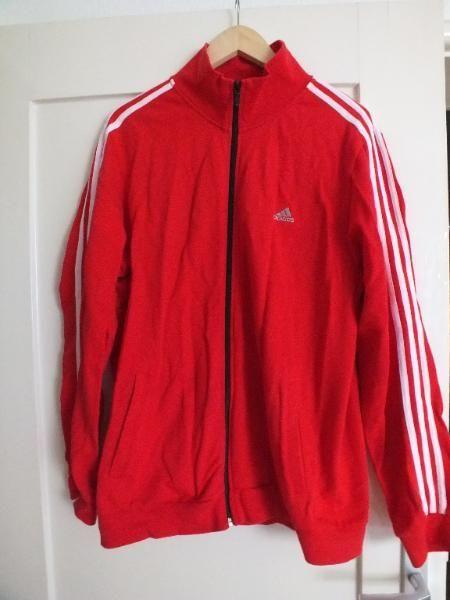Adidas Trainingsjacke Jacke neuwertig Gr. L Rot Sweater Hootie