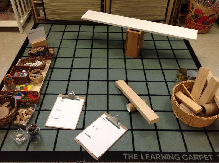 Balance provocation using loose parts and natural materials.