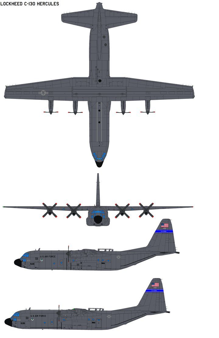 C 130 coloring pages - Lockheed C 130 Hercules By Bagera3005