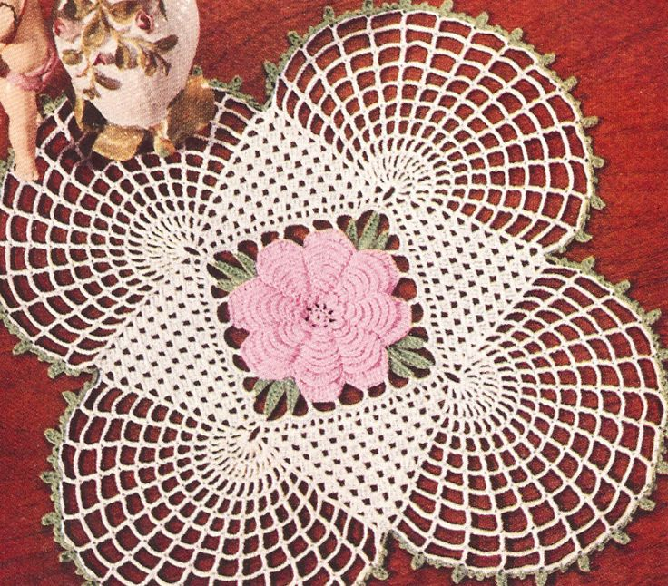 Vintage Crochet Pattern To Make Irish Rose Motif Square