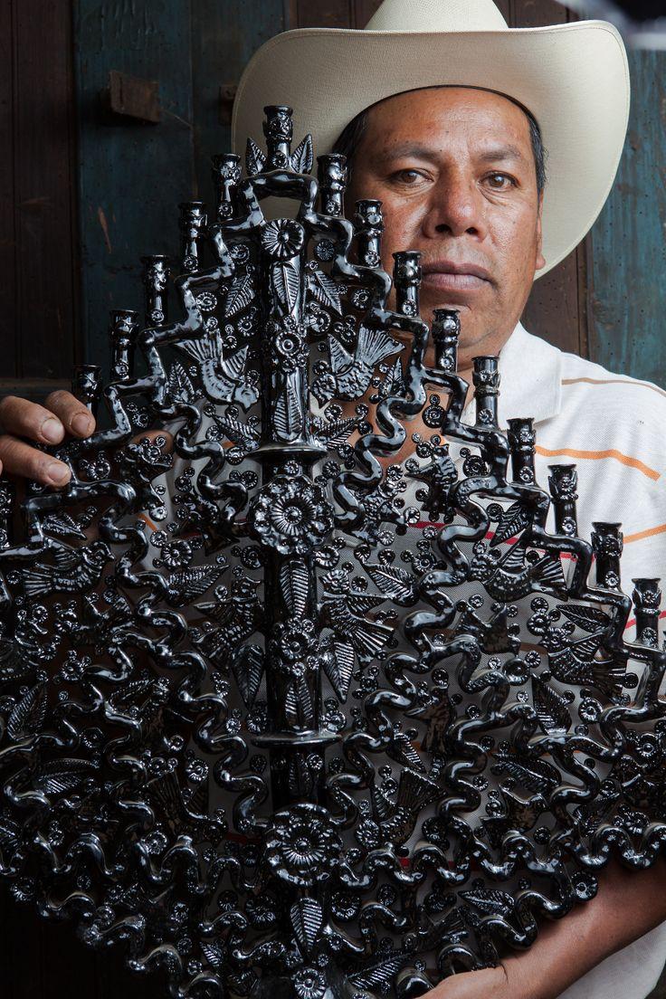 Artesanos de Michoacán, México.