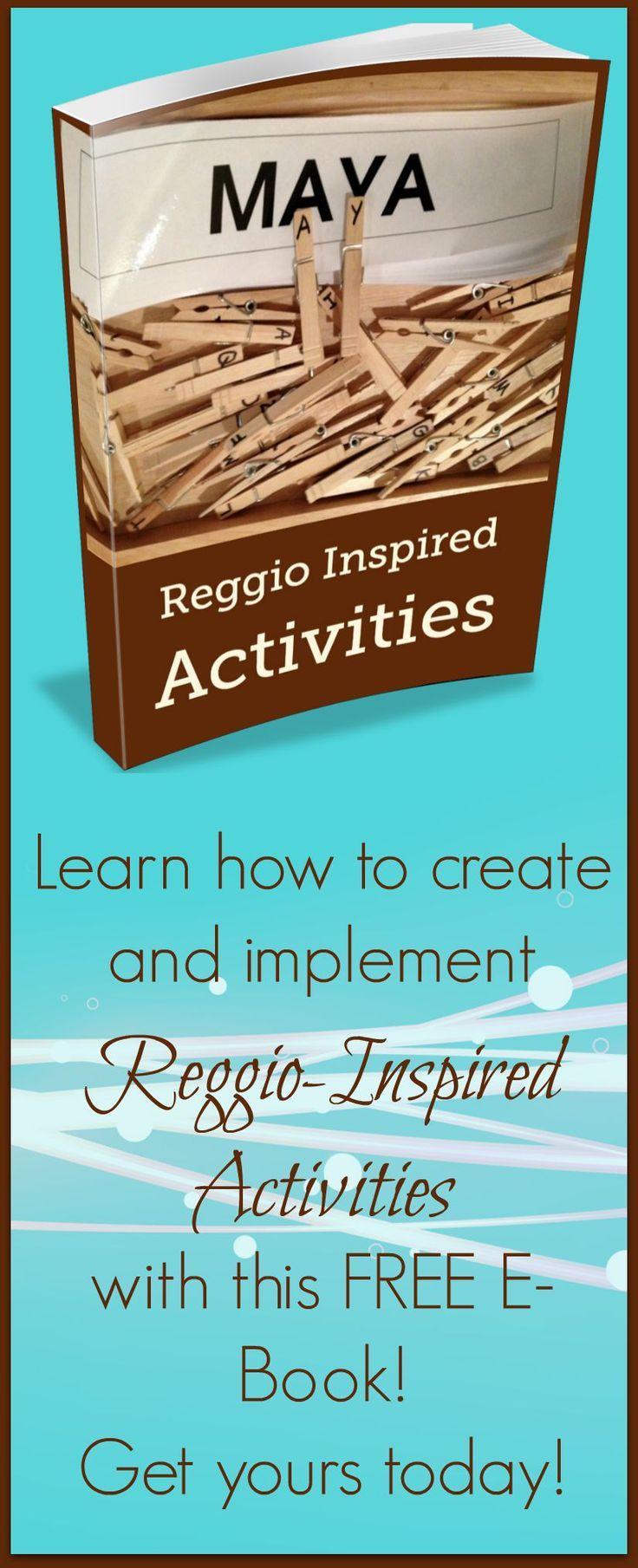 FREE E-Book full of Reggio-Inspired activities!