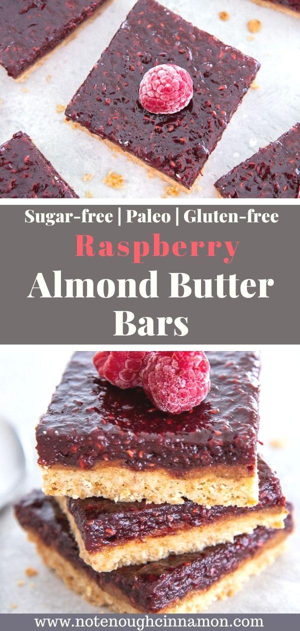 Healthy Raspberry Almond Butter Bars Not Enough Cinnamon Recipe Raspberry Desserts Raspberry Almond Raspberry Desserts Healthy