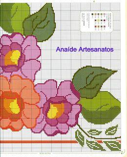 Anaide Ponto Cruz: graficos em ponto cruz mesa quadrada