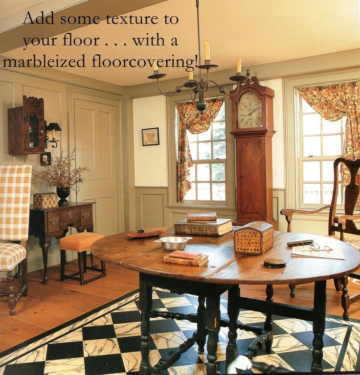 494 best Colonial Rooms images on Pinterest