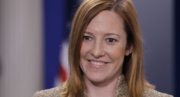 Jen Psaki: Traitor. American Citizens do not have any rights when wanted by the govt. Believes whole heartedly that Barak Obama has the right to order an invasion without the consent of Congress. Has this BITCH read the Constitution???