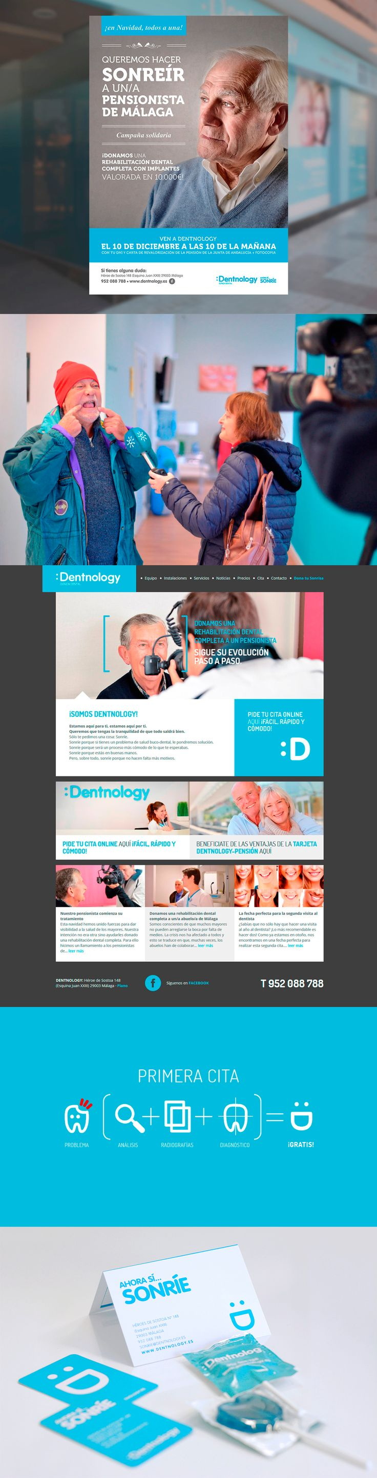 Dentnology. Una clínica dental con una sensibilidad especial en la cercanía y el trato humano. Así desarrollamos en Factor ñ su imagen de marca.