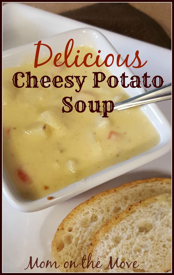 Delicious Cheesy Potato Soup Find out what makes this soup so delicious! You will definitely want to try it out!