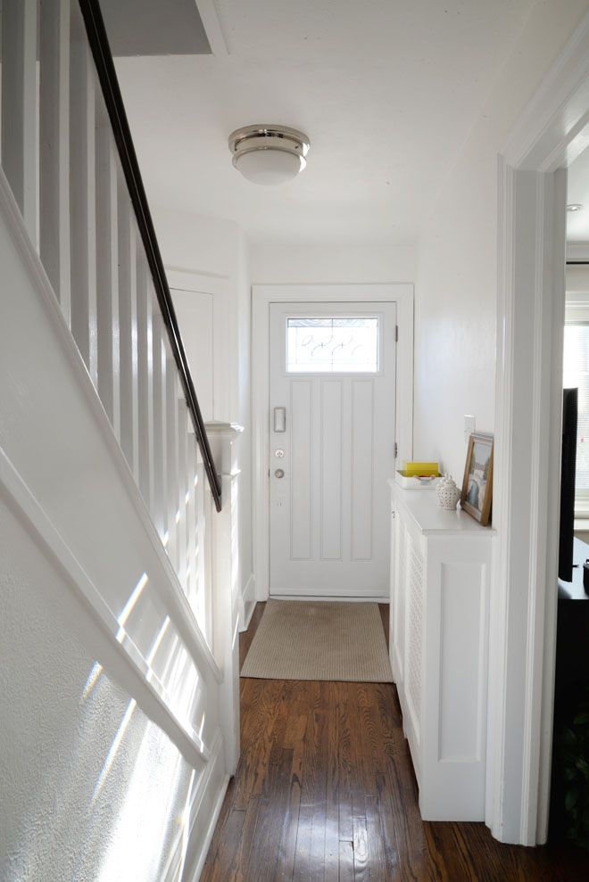 hallway paint ideas, A Bright White Hallway White hallway, White decor, White