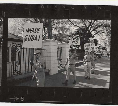 Cuban missle crisis demonstration: American Nazi Party: In… | Flickr